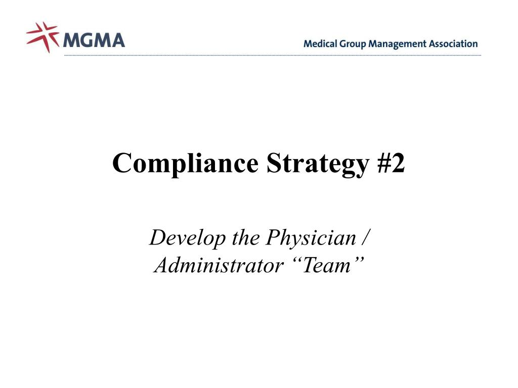 Compliance Strategy #2