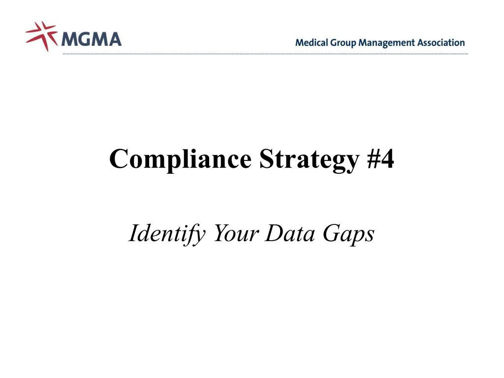 Compliance Strategy #4