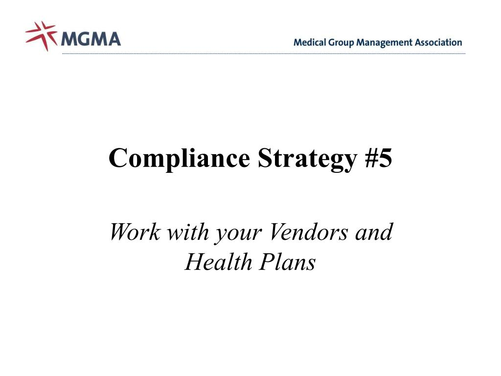 Compliance Strategy #5