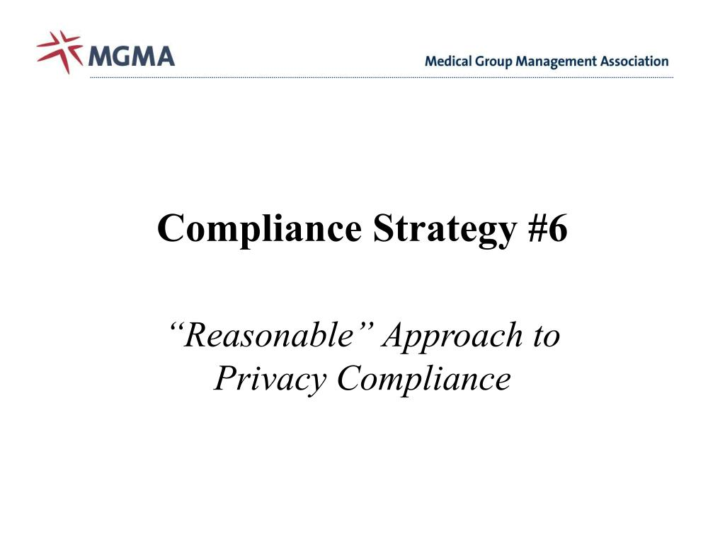 Compliance Strategy #6