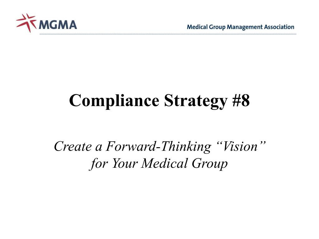 Compliance Strategy #8
