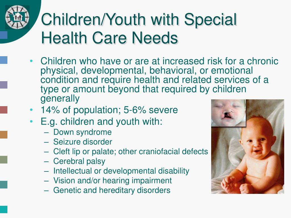 Children/Youth with Special Health Care Needs