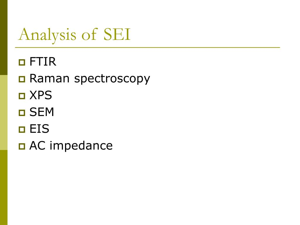 Analysis of SEI
