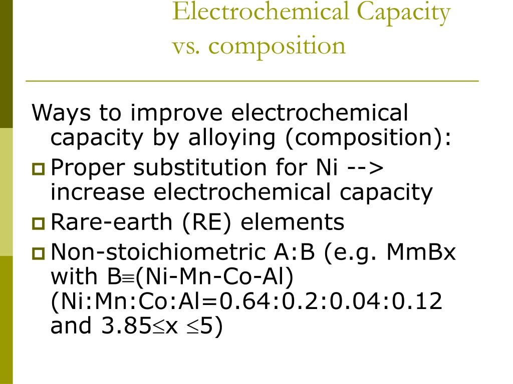 Electrochemical Capacity