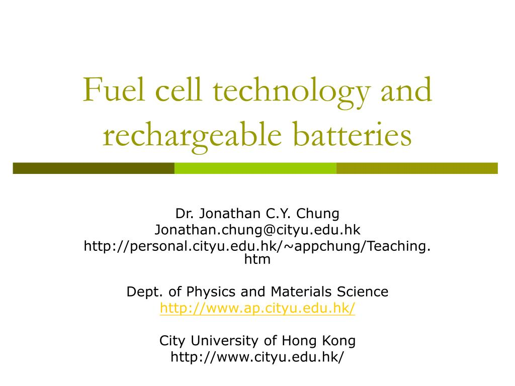 Fuel cell technology and rechargeable batteries