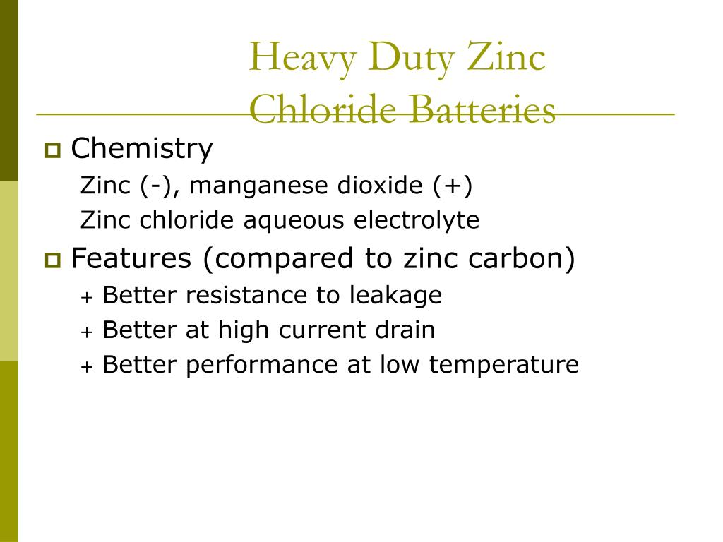 Heavy Duty Zinc Chloride Batteries