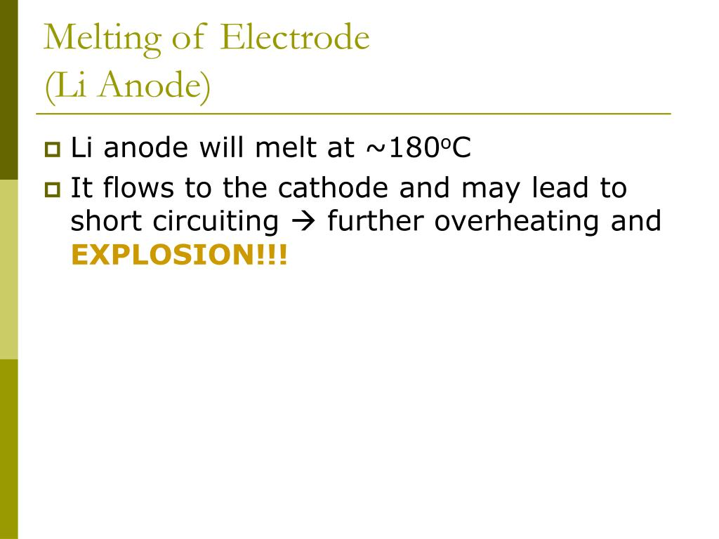 Melting of Electrode