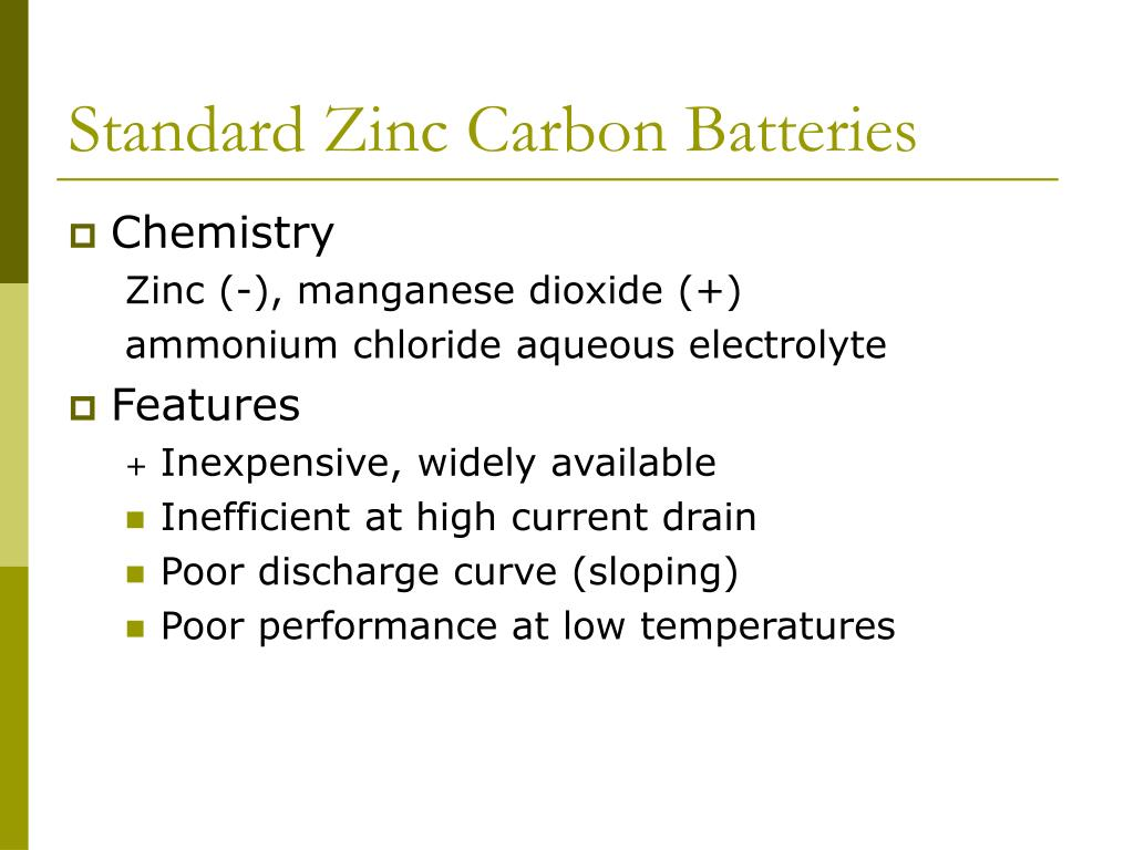 Standard Zinc Carbon Batteries