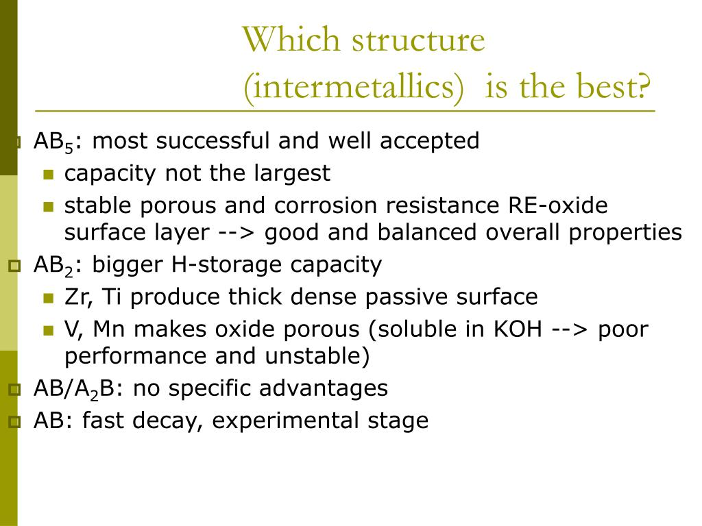 Which structure (intermetallics)  is the best?