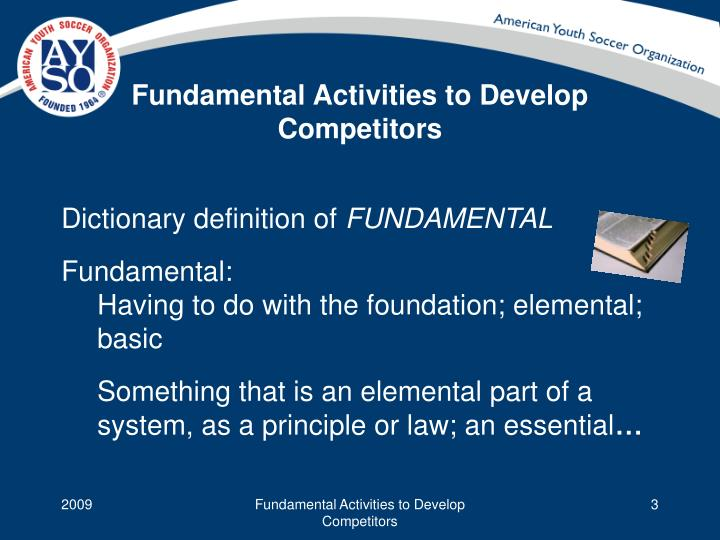 Fundamental activities to develop competitors1