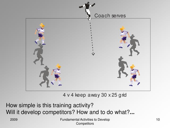 How simple is this training activity?