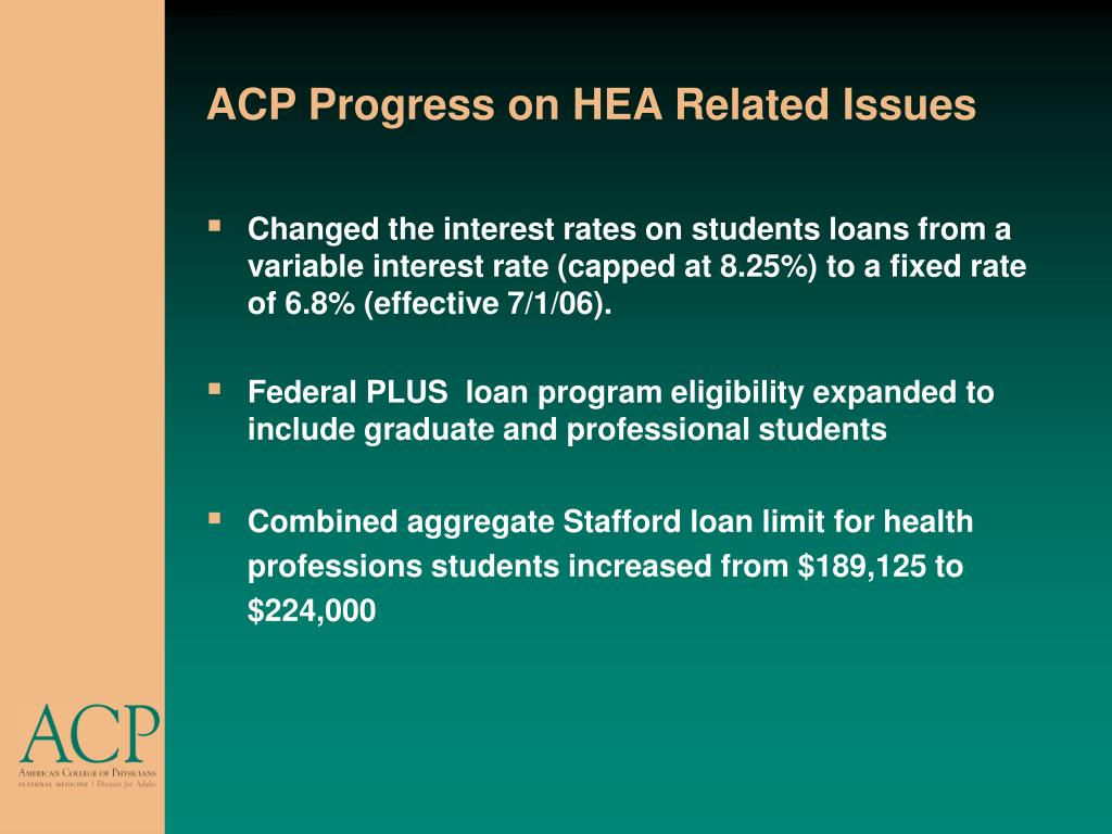 ACP Progress on HEA Related Issues