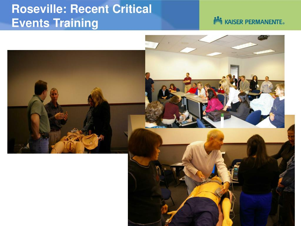 Roseville: Recent Critical Events Training
