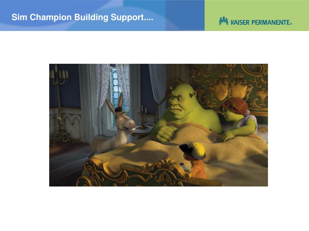 Sim Champion Building Support....
