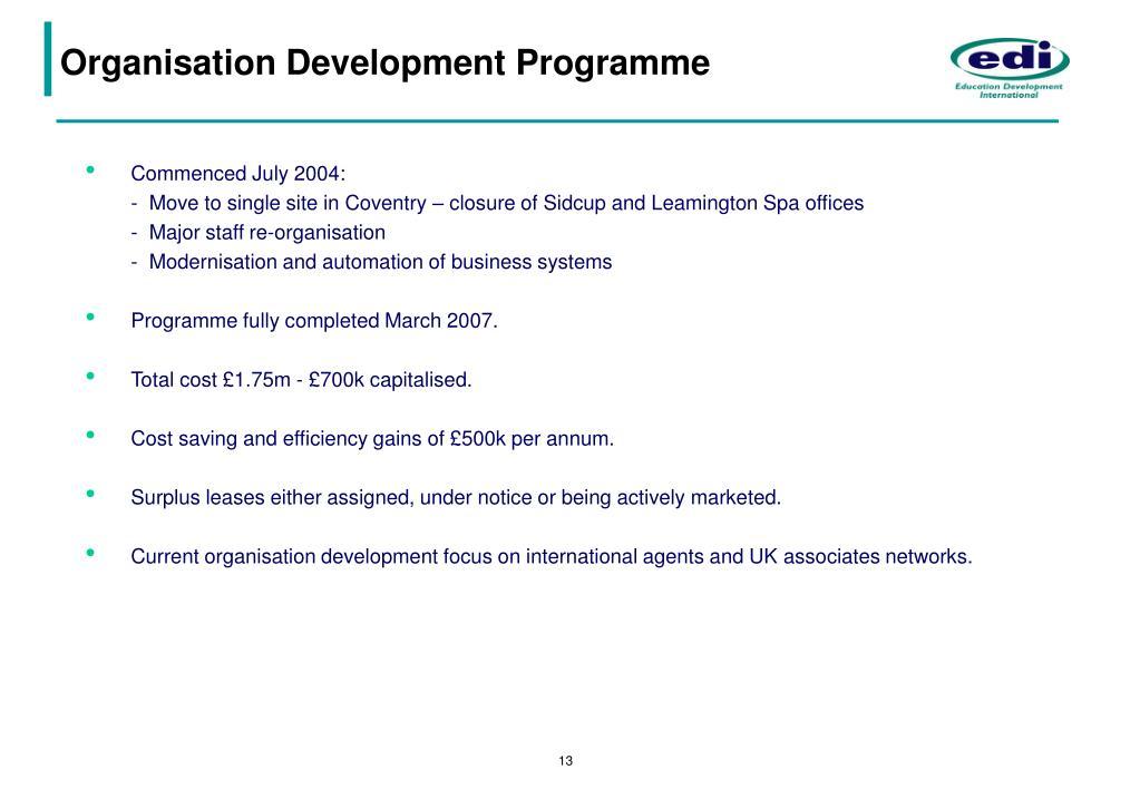Organisation Development Programme