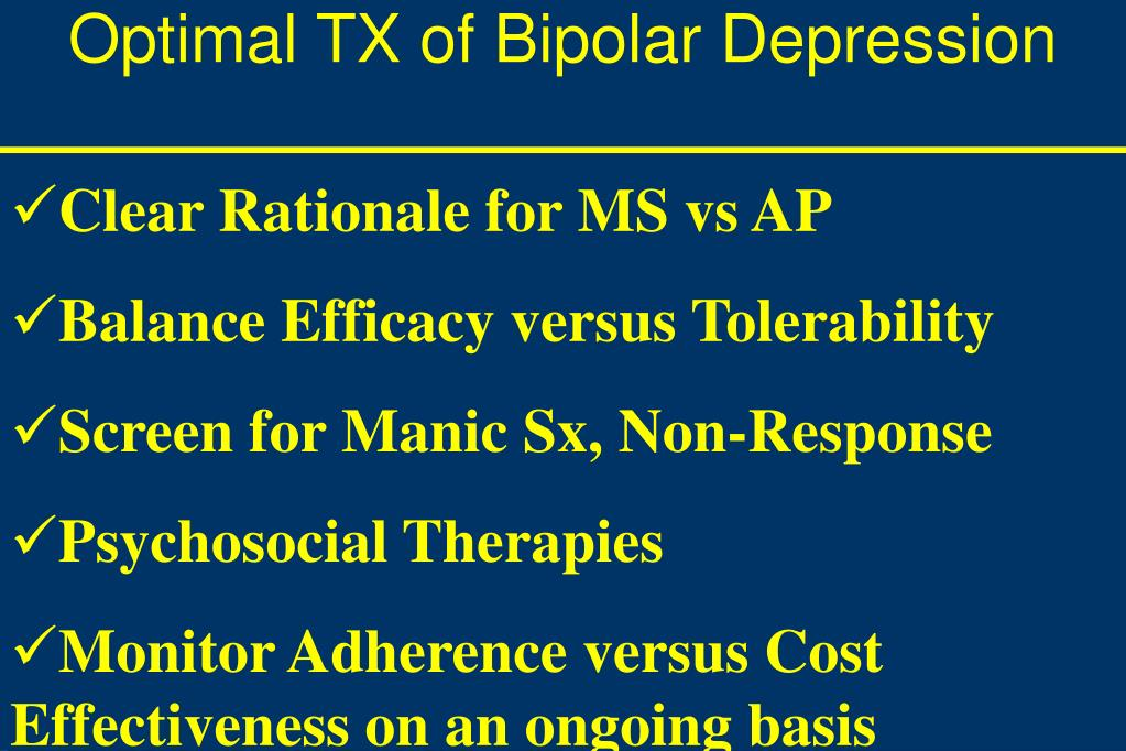 Optimal TX of Bipolar Depression