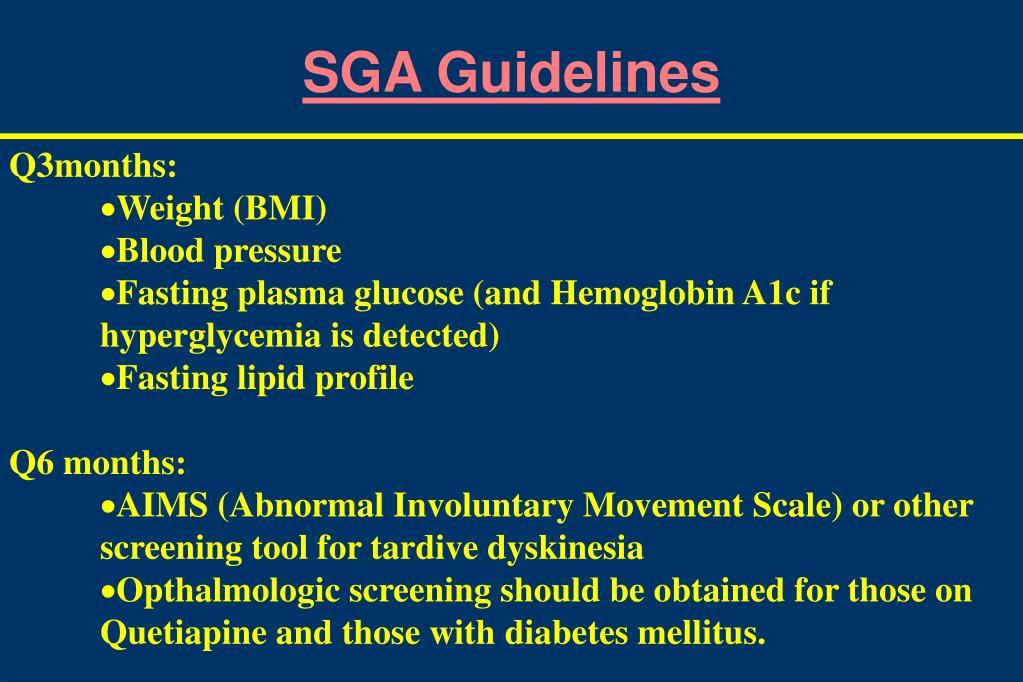 SGA Guidelines