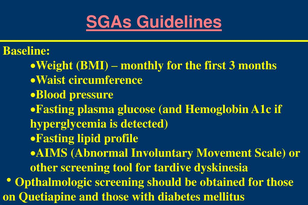 SGAs Guidelines