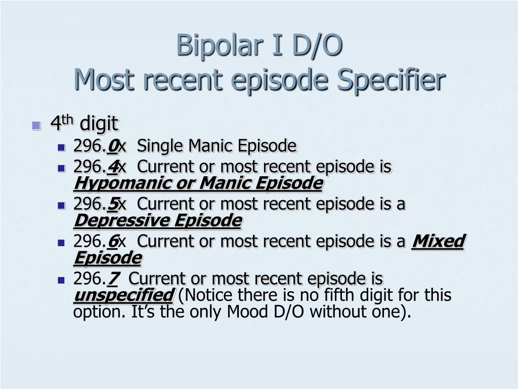 Bipolar I D/O