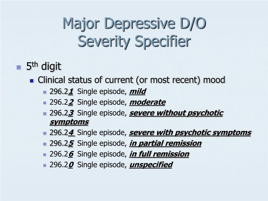 Major Depressive D/O