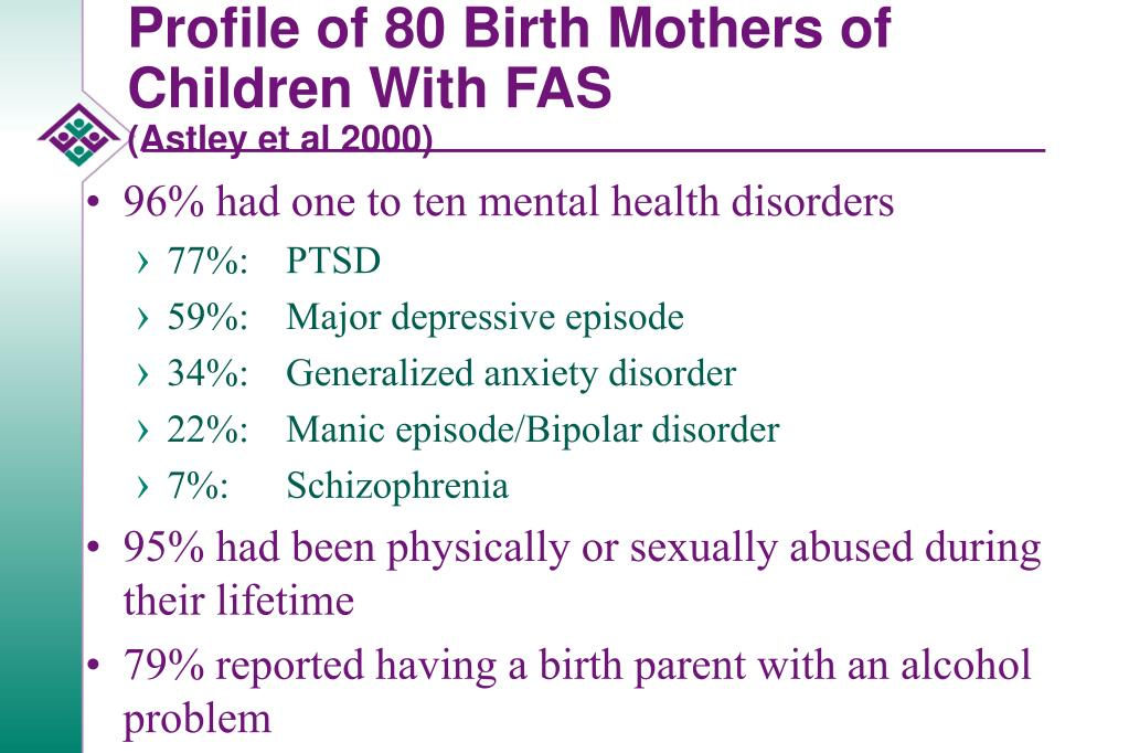 Profile of 80 Birth Mothers of Children With FAS
