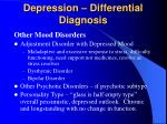depression differential diagnosis