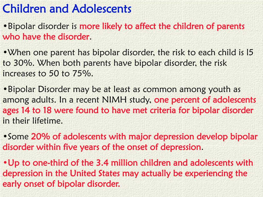Children and Adolescents