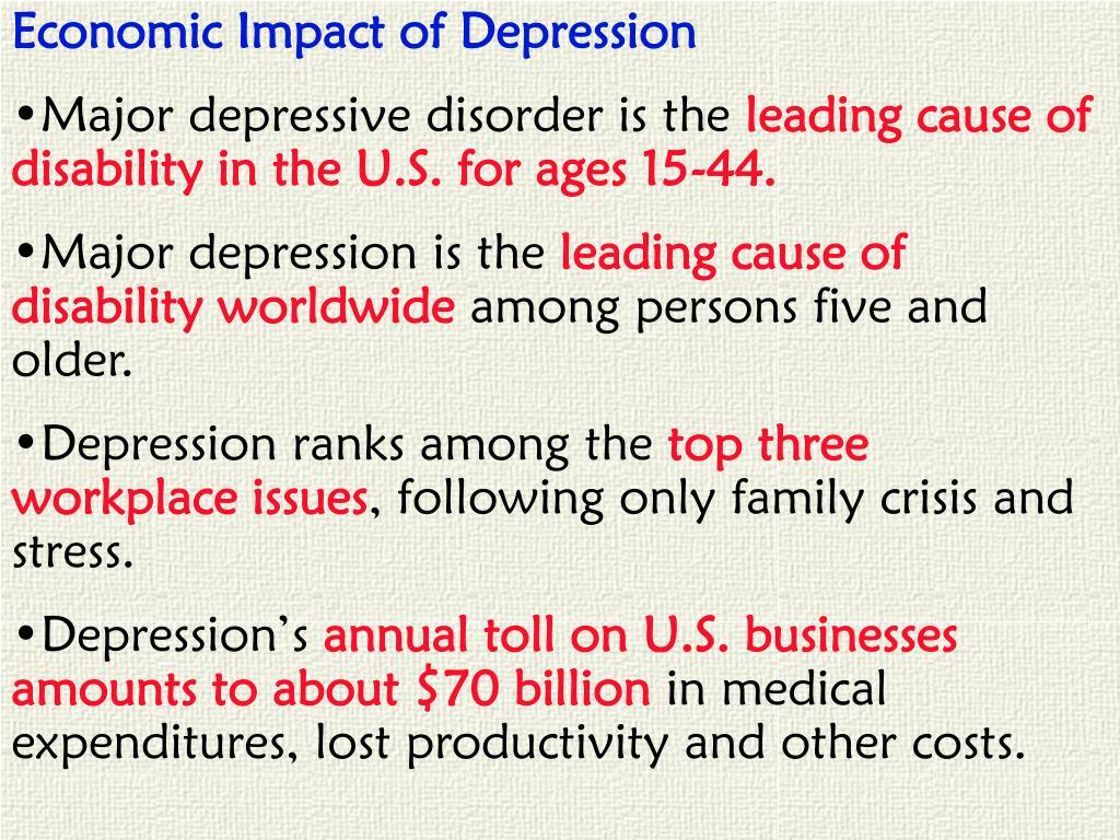 Economic Impact of Depression