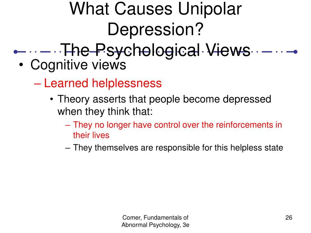 What Causes Unipolar Depression?