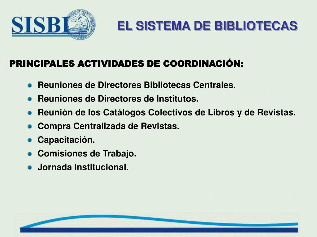 EL SISTEMA DE BIBLIOTECAS