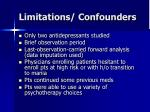 limitations confounders
