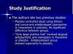 study justification5