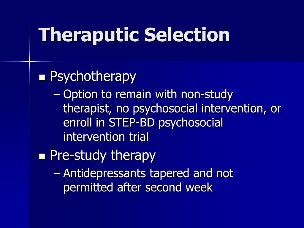 Theraputic Selection