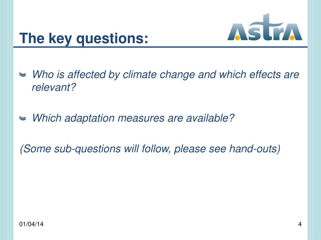 The key questions: