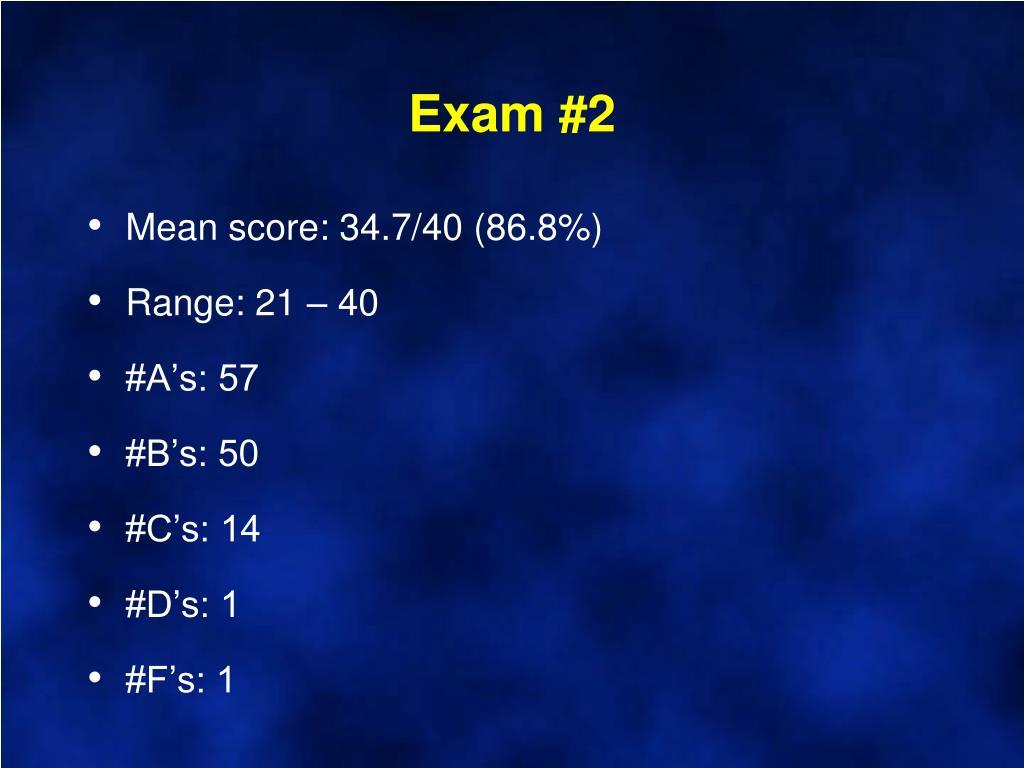 Exam #2
