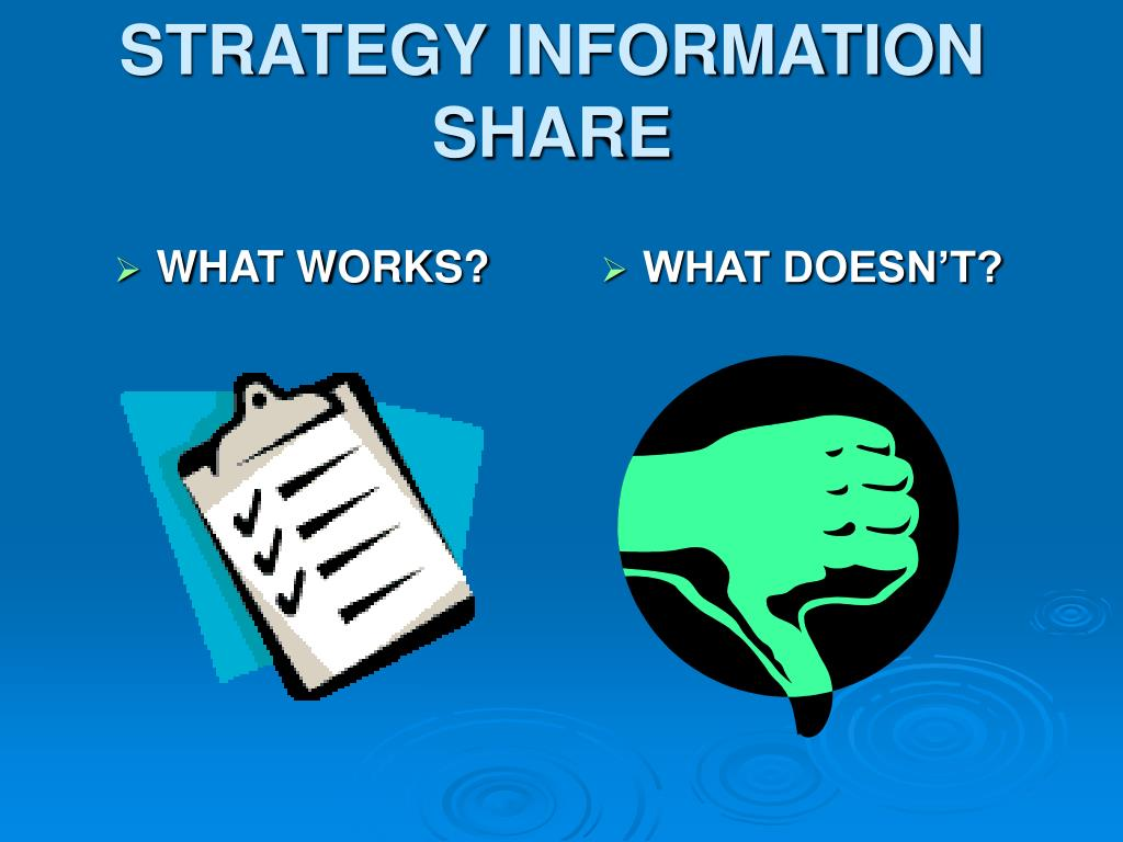 STRATEGY INFORMATION SHARE