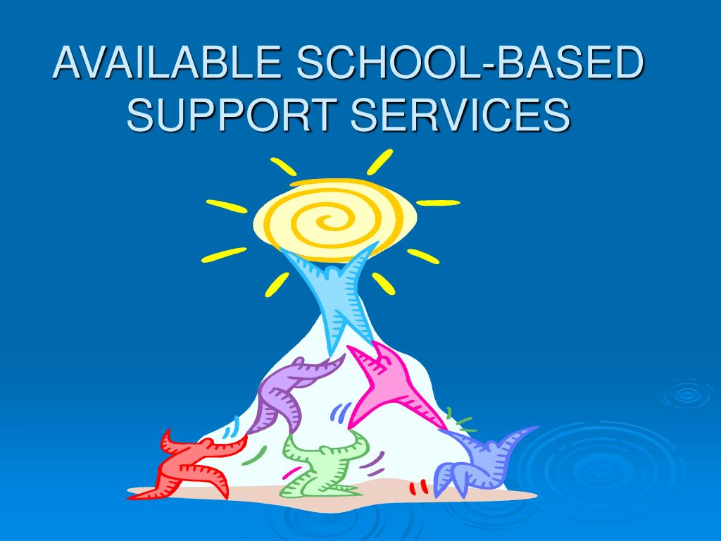 AVAILABLE SCHOOL-BASED SUPPORT SERVICES