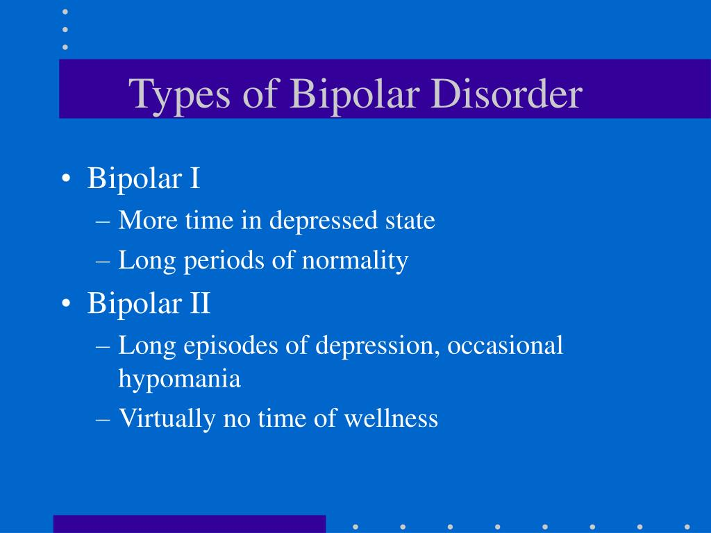 Types of Bipolar Disorder