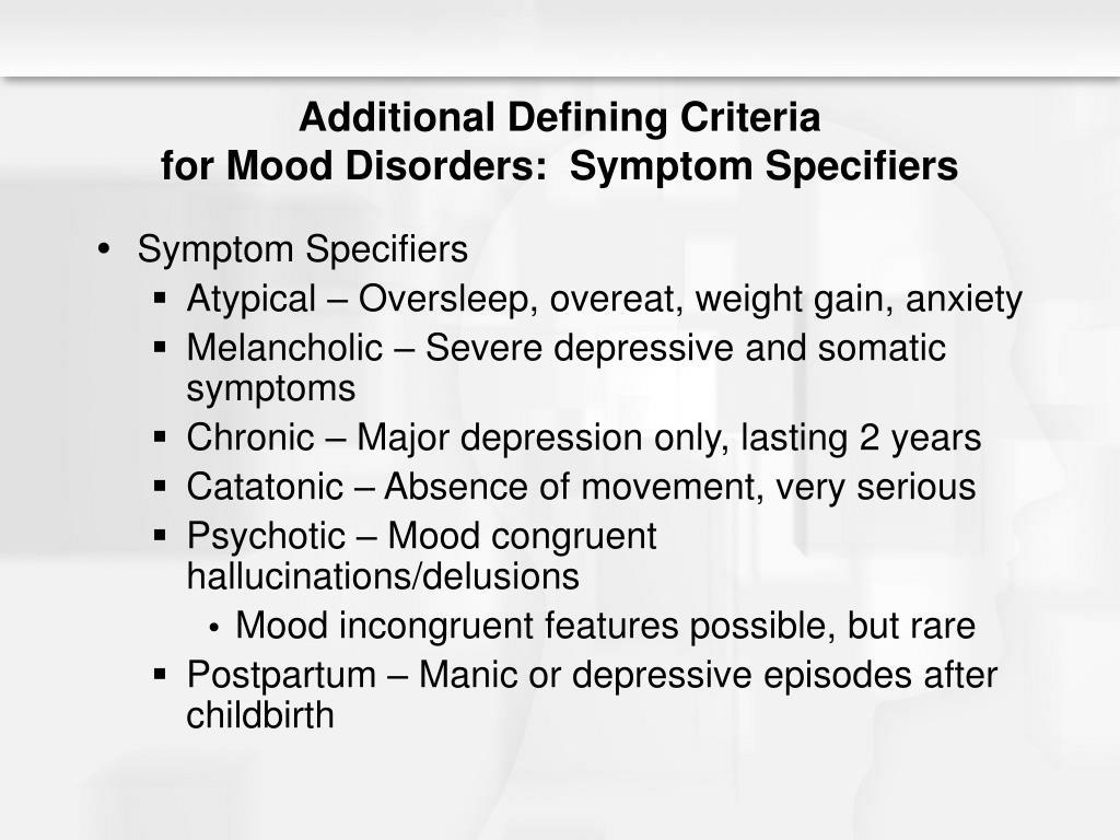 Additional Defining Criteria