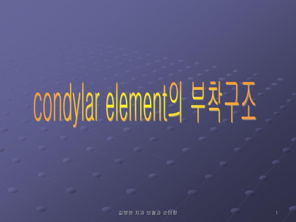 condylar element
