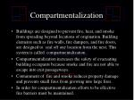 compartmentalization