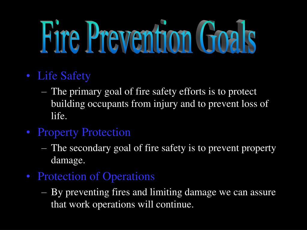 Fire Prevention Goals