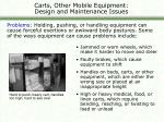 carts other mobile equipment design and maintenance issues22
