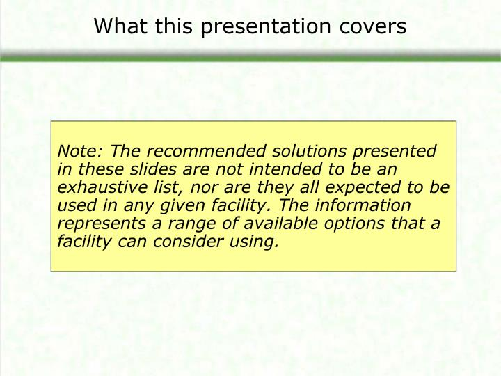 What this presentation covers3