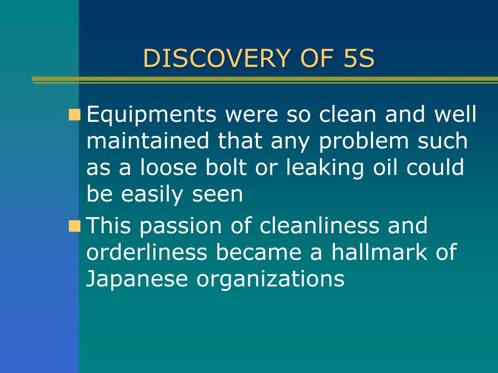 DISCOVERY OF 5S