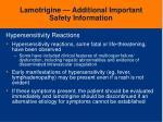 lamotrigine additional important safety information