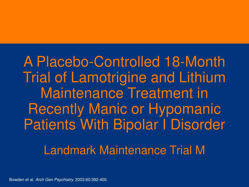 A Placebo-Controlled 18-Month
