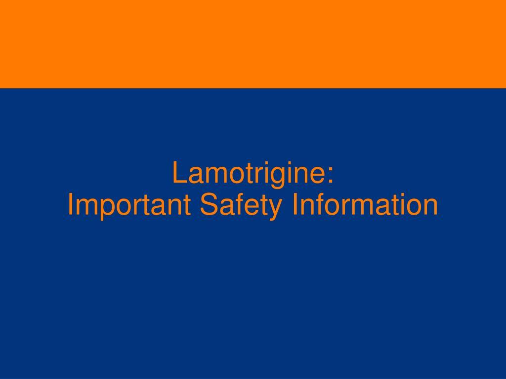 Lamotrigine: