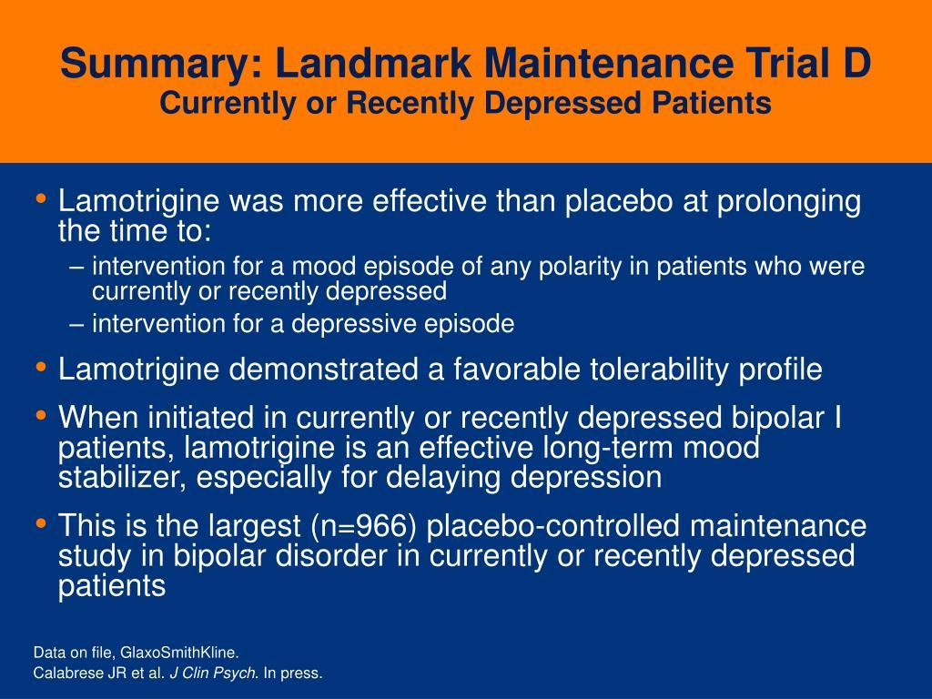 Summary: Landmark Maintenance Trial D