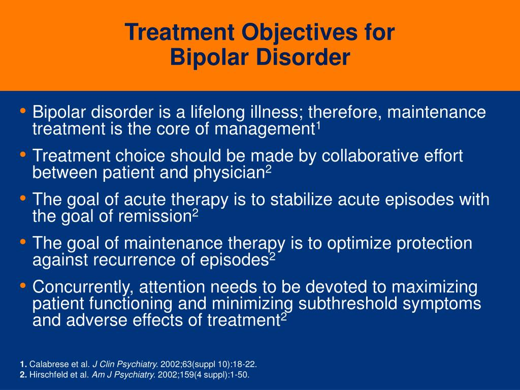Treatment Objectives for